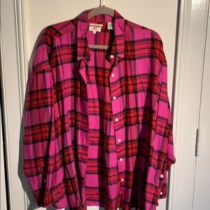 Levi's pink flannel shirt